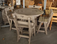 Poly Round Pub Table