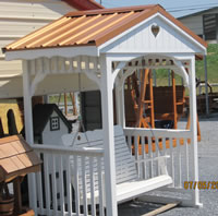 Arbor with Metal Roof